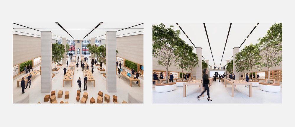The newly renovated Apple Regent Street by Foster + Partners.
