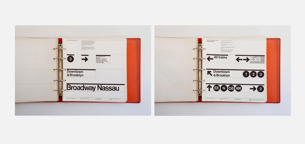 The Standards Manual for the New York Subway Signage, designed by Massimo Vignelli