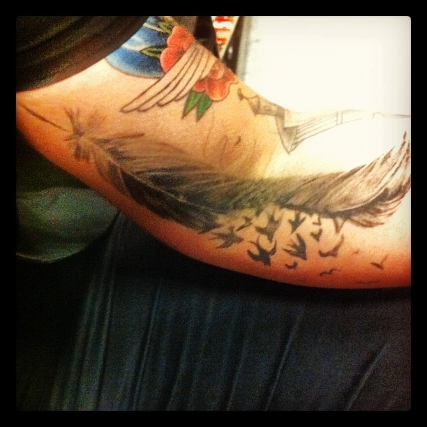 "Faux ""tattoo"" feather-2012"