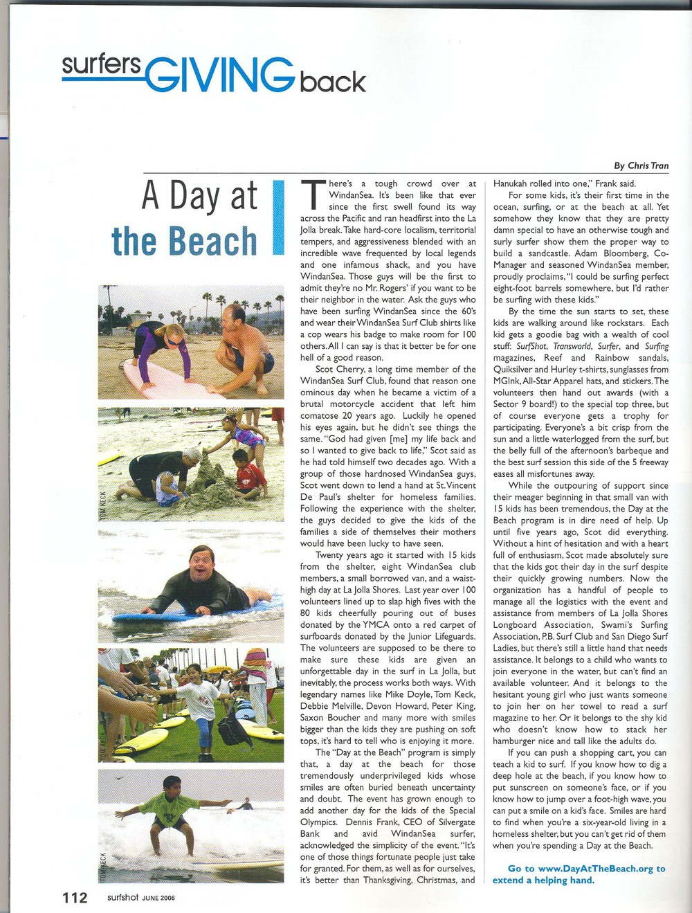 SurfShot Magazine / San Diego based surf magazine article
