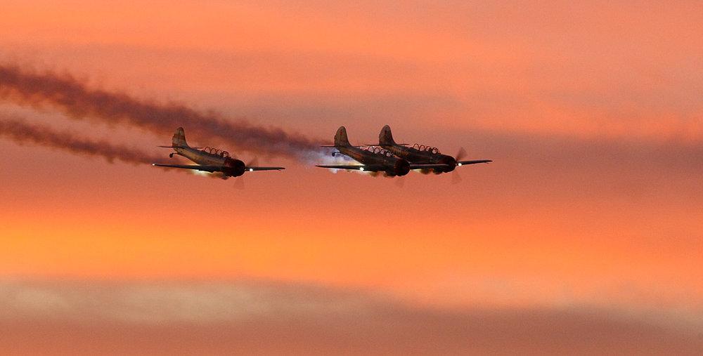 Three Planes at Sunset,Mark Lagrange, GNOCC, 3rd Place