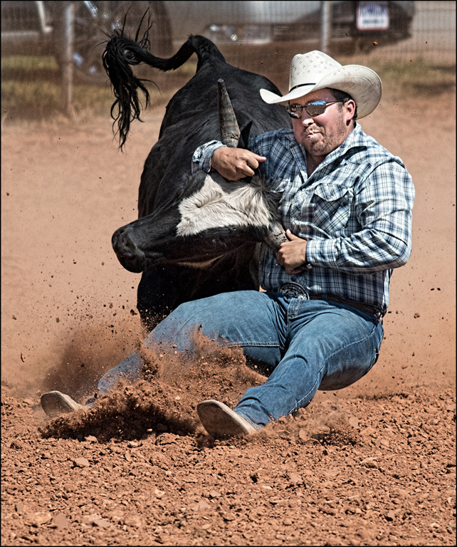 Bull vs Man, Carol McCreary, Oklahoma CC, 2nd Place