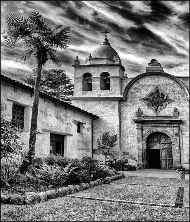 California Mission,Carol McCreary,Oklahoma Camera Club,2nd HM,Mono Prints