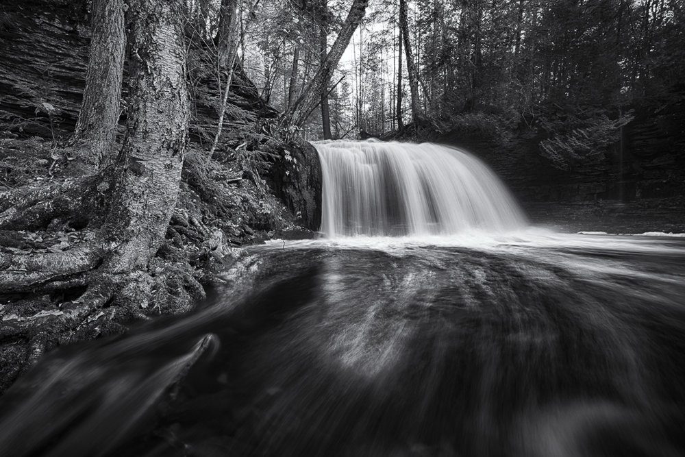 Rock River Falls,Vic Prislipsky,National Park Photography Club,3rd Place,Mono Projected