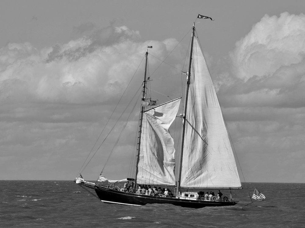Tall Ship Lynx Setting the Sail, Richard Hale, Slidell PC, 1st HM