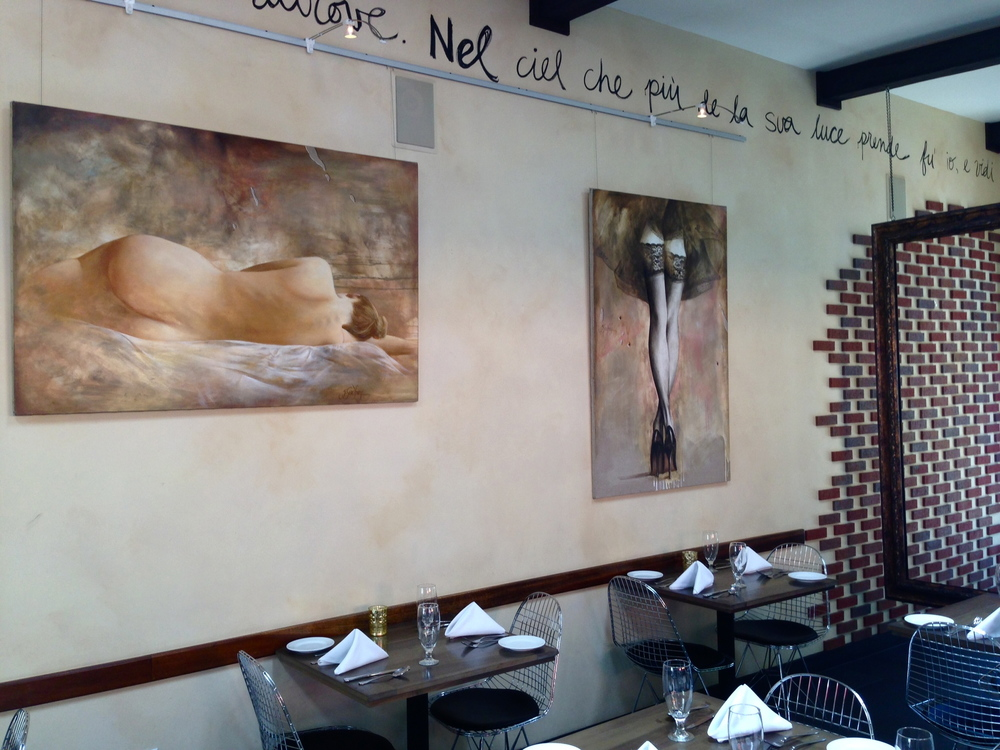 La Villa Restaurant & Bar,  Little Italy, San Diego, California, Summer 2013 Artist, Yarek Godfrey