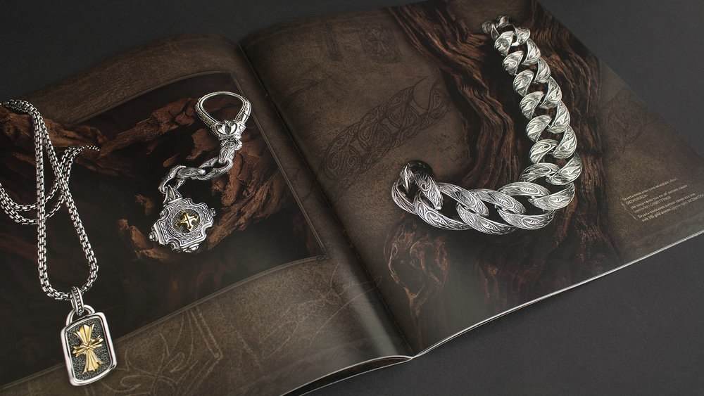 A luxury jewelry catalog where I was involved in both design and press checks.