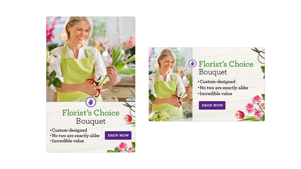 More examples of banner work, this time incorporating lifestyle photography.