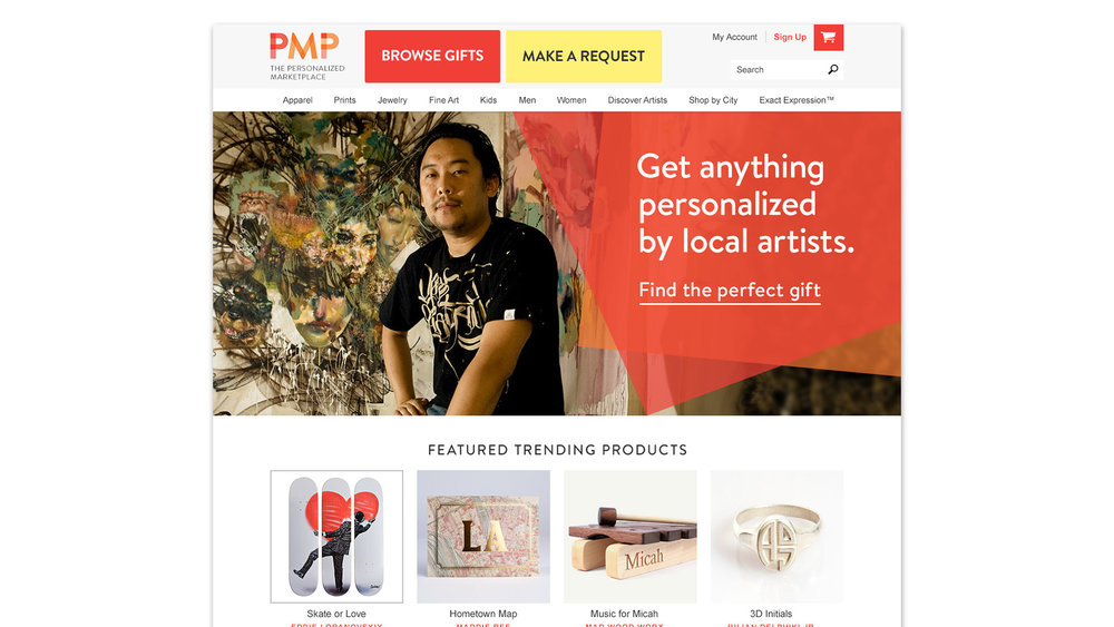 A fictional company and site created to pitch how 1-800-Flowers could enter the personalization marketspace.