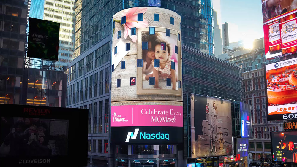 This just illustrates how I've learned to adapt video content to fit different form factors, this case being the NASDAQ tower.