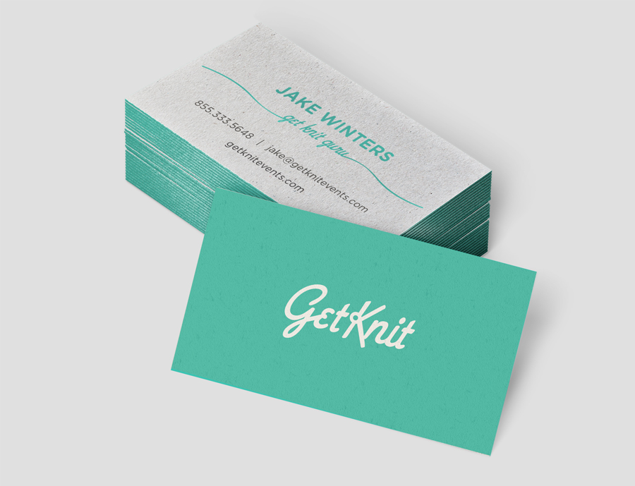 Getknit brand identity danielle marie getknitbusiness cards mockupg colourmoves
