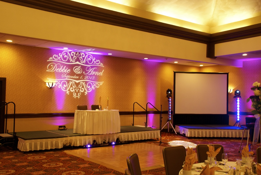 Personalized Monogram & Large Projector for slideshows