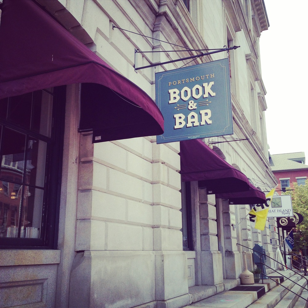 Book + Bar in Portsmouth, New Hampshire