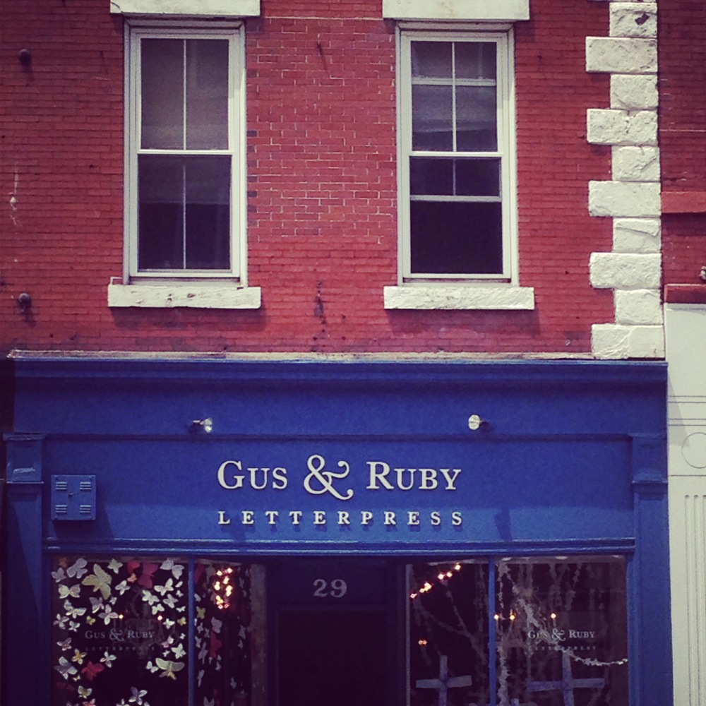 Gus and Ruby Letterpress in Portsmouth, New Hampshire