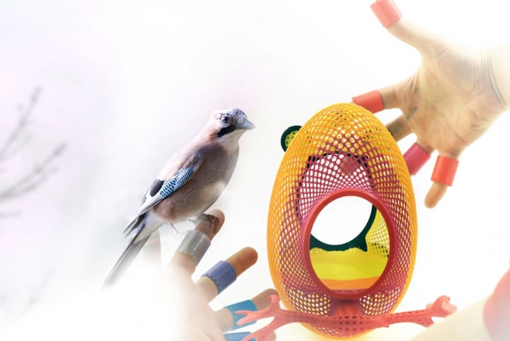 3-D printed nest aim to bring birds back into cities. Source:  PrintedNest