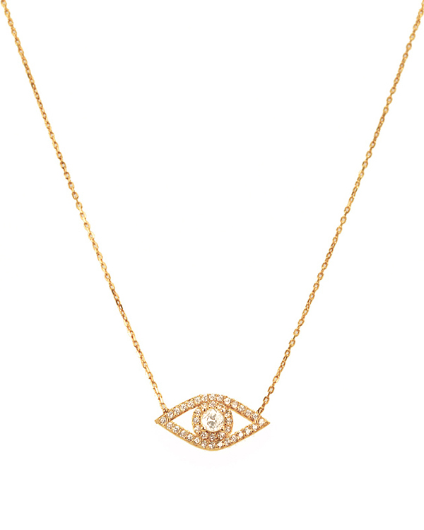 Classic Sparkling Evil Eye Necklace SUSAN HANOVER DESIGNS