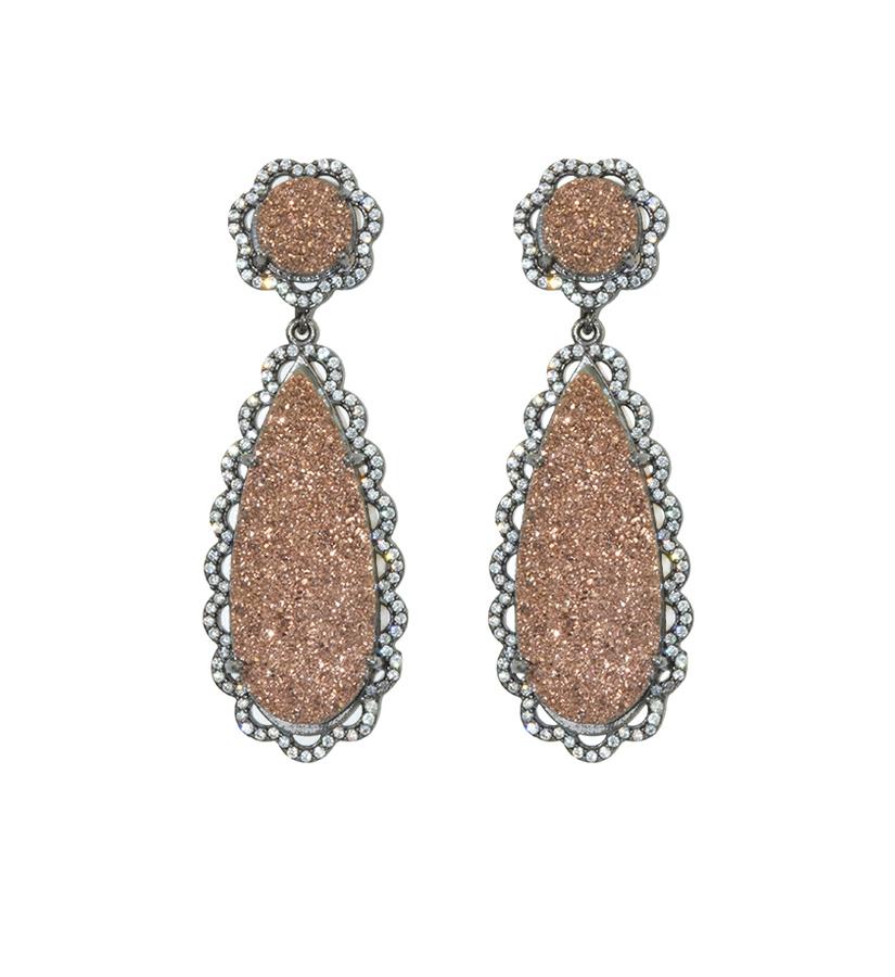Druzy Earrings SUSAN HANOVER DESIGNS