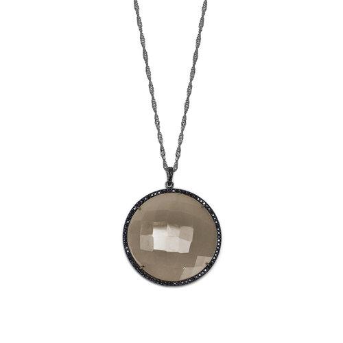 Smoky quartz pendant necklace susan hanover designs smoky quartz pendant necklace aloadofball Image collections