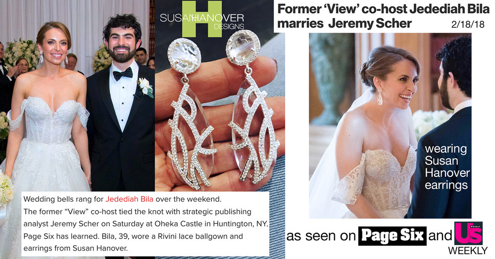 Jedediah Wedding On  PAGE SIX  And  US Weekly .   SHOP Bridal   Earrings