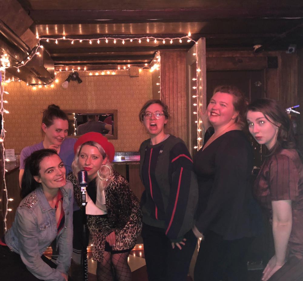 February, 2018! (from left to right): Nancy Pop, Elise Valderrama, Ella Glabicki, Keira McGill, Allie Dorrine, Mariah Plante