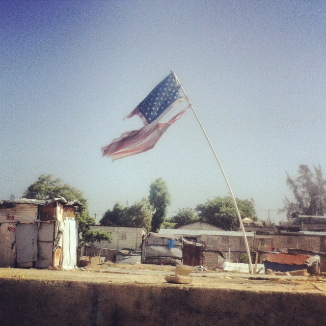 joshandchandler :     Taken outside a tent city starting to come down outside of Port au Prince