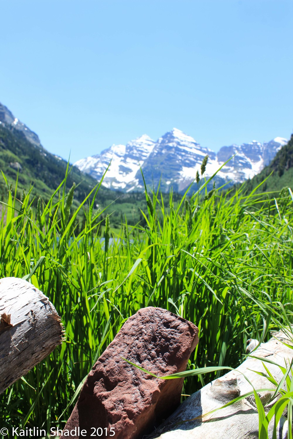 Brick, Fence and the Maroon Bells