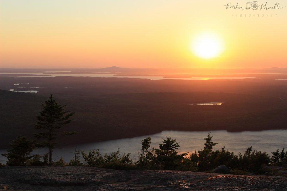 Sunset at Cadillac Mountain