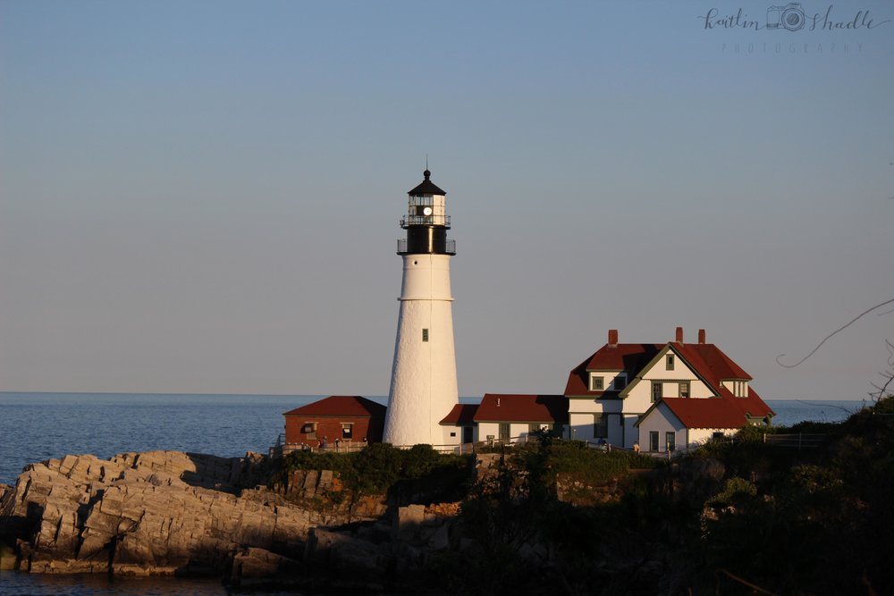 Dusk at the Portland Lighthouse