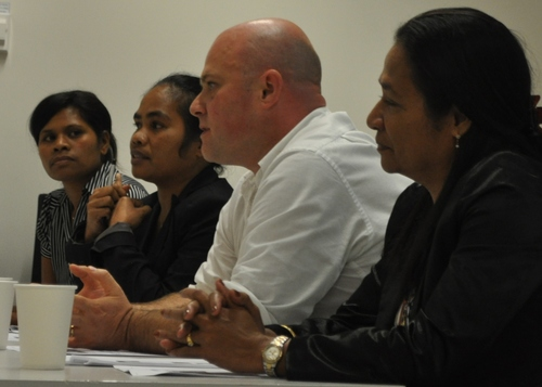 Panellists Discussing Domestic Violence in Timor-Leste