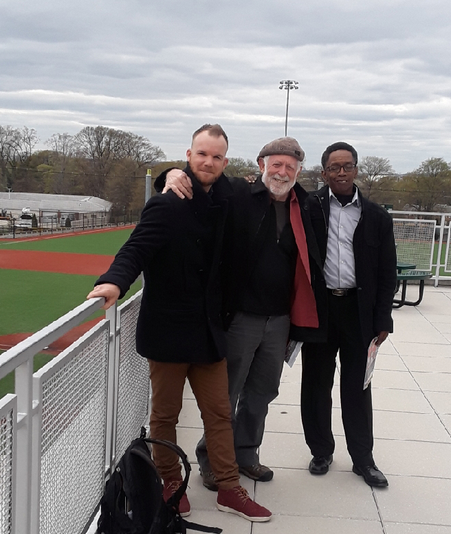 Eugene and Roscoe with  Baseball Operations Manager  Charlie Sperduto at the Washington Nationals Youth Baseball Academy, Washington D.C.