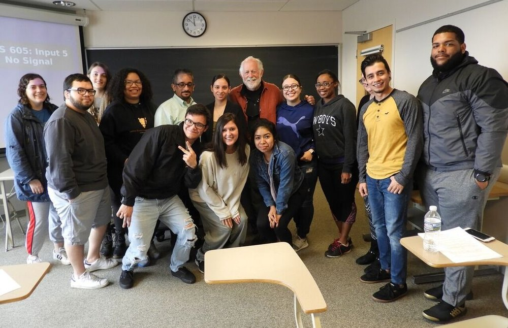 Eugene with Millersville University Humanities class students (Latino Issues of Identity)