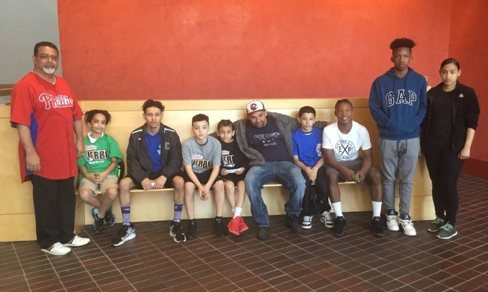 Coach Leo Martinez and Boys & Girls Club team