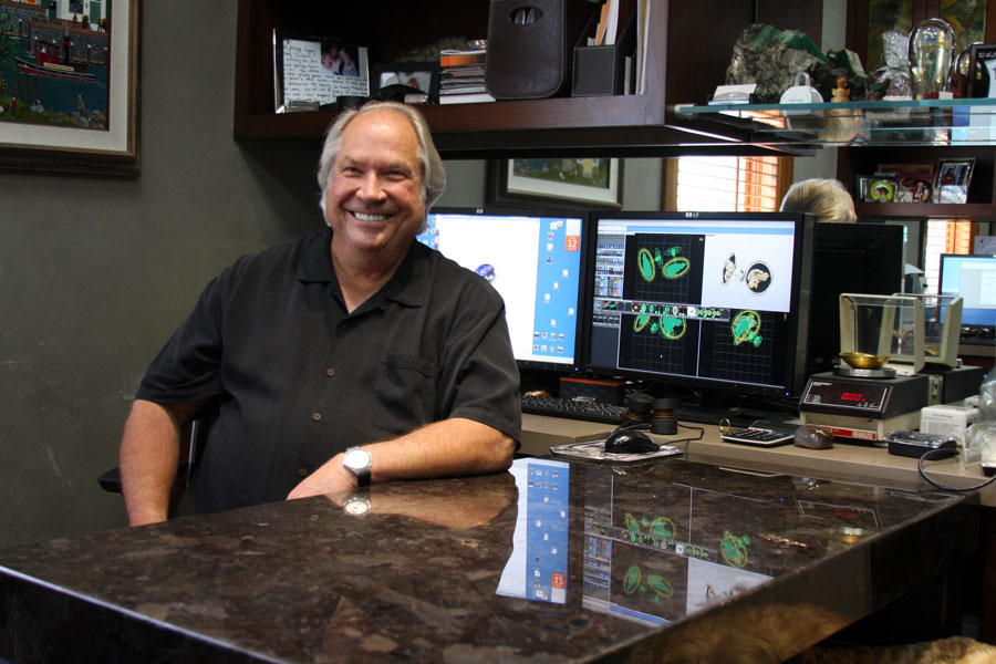 Barry Peterson in his office