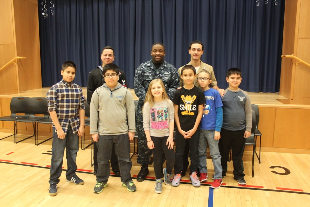 Career education: Students in grades 3-5 ask questions about what it's like to work in the navy!