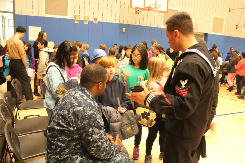 THE NAVY VISITS PS 51!
