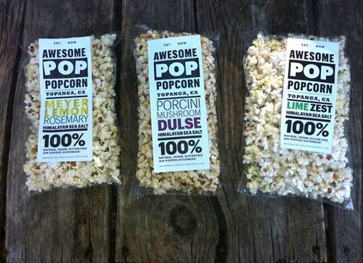 Topanga's very own, AWESOME POP, will have  GMO-free organic gourmet popcorn for sale at each screening. Half of all proceeds go to support Topanga Film Institute - for the love of cinema!