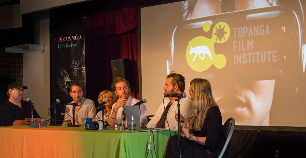 Topanga Film Institute VR panel at the 2015 Topanga Film Festival