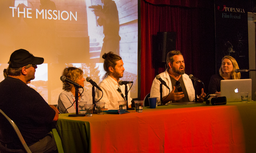 Eric Hanson, XRez Studios, Anders Hjemdahl, Hypnosis/Fractal Frontiers,   Nancy Bennet, Two Bit Circus,   Zachary Richter, Vrse / Vrse.works,   Matthew   Gratzner, New Deal Studios, Camilla Andersson, Topanga Film Festival.   Photo: Jack Murphy