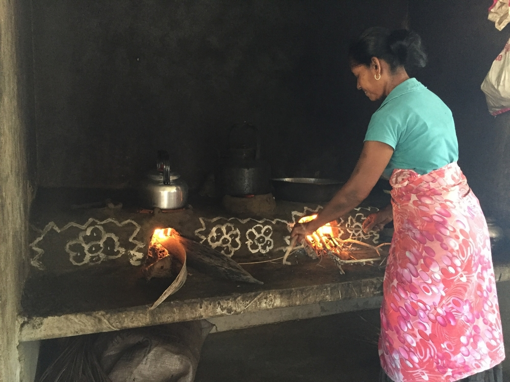 Home made Rice and curry in Kalpitiya