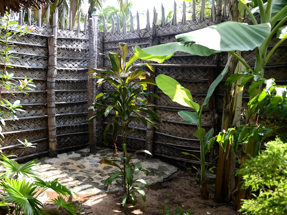 Enjoy your shower in your own private open air shower garden..