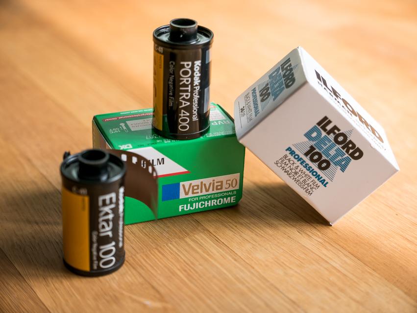 35mm camera film rolls