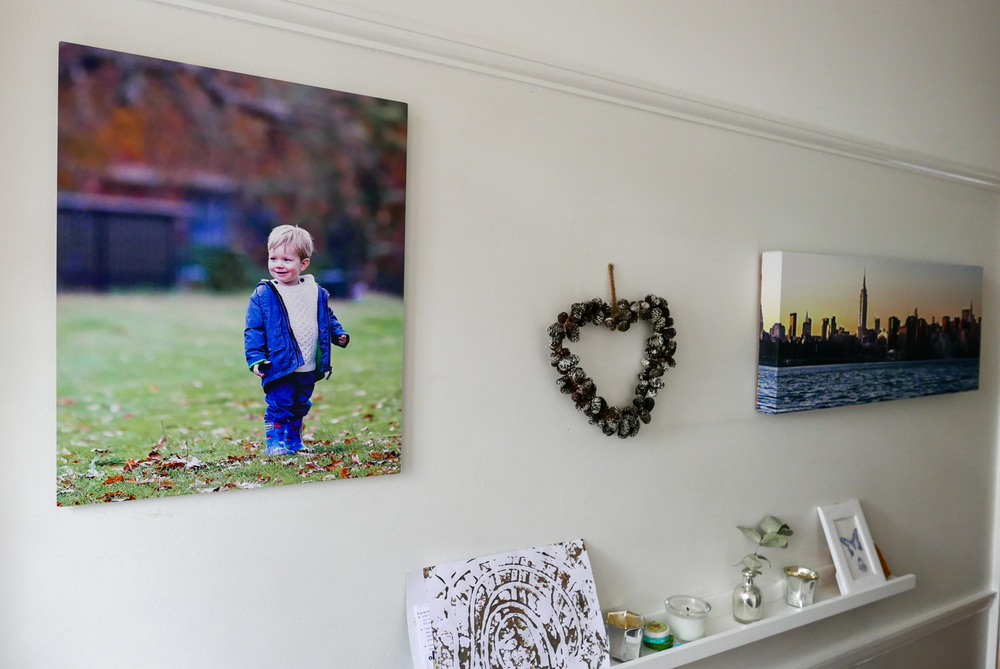 """One of my walls. With prints (and """"stuff"""")"""