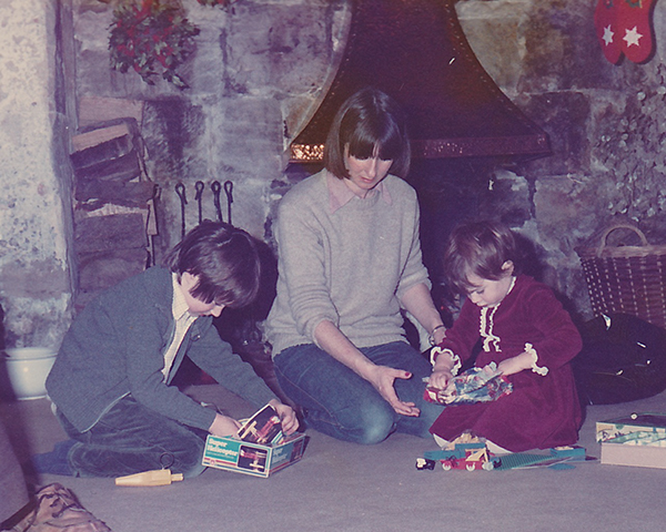 Me, my mum and my sister, circa 1983