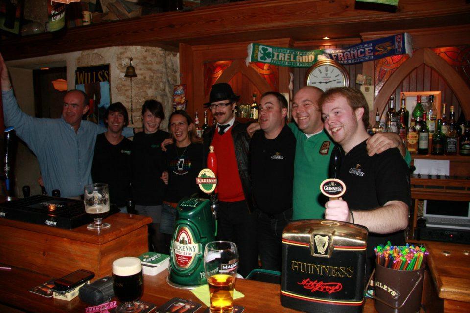 Nico, Eoin O'Reilly, Leonie Duff, Gallou Lou, Kevin Hughes, Sylvain Richard & Aodhan O'Cuagain (Hughie)