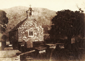 Anonymous, Welsh Chapel, 1840 salt print