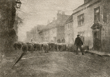 George Davison, In a Village Under South Downs, 1907 photogravure