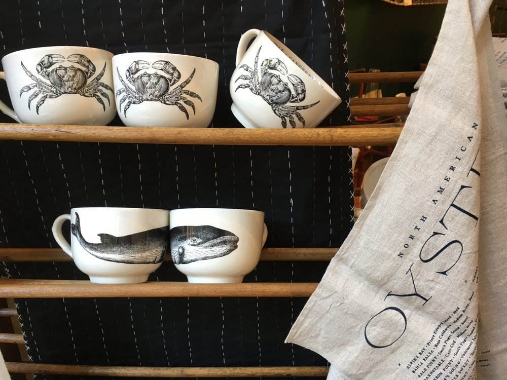 Oyster Linens - Every oyster in the North Atlantic & our favorite Fauna Jumbo Mugs!