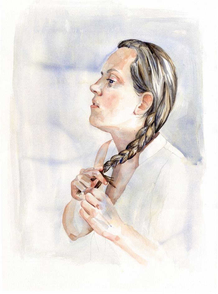 Karen, Watercolour, June 2017