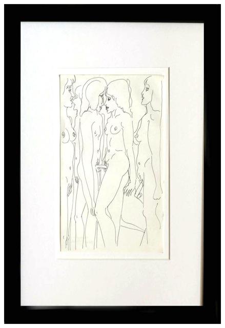 Zeichnung . Blatt 30 * 20 cm . Rahmen 50 * 40 cm . Nachlassgestempelt . 1960er Jahre  500 Euro (inkl Rahmung)