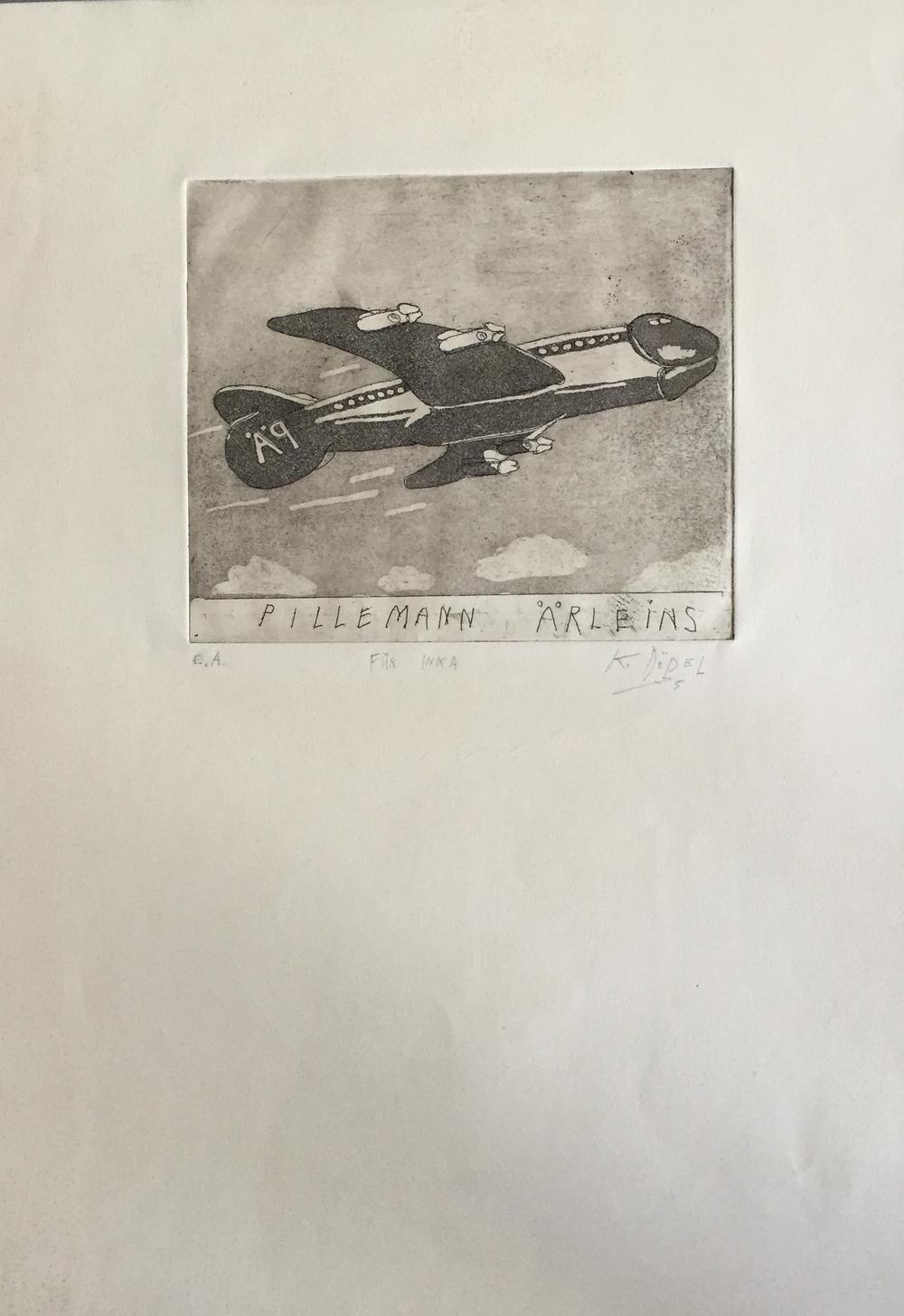 ›Pillemann Ärleins/für Inka‹, 1975, Lithographie, 50 x 40 cm, aus Privatbesitz